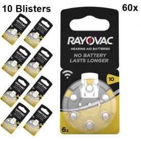 Rayovac - Rayovac Acoustic Baterii pentru auditive 10 HA10 PR70 ZL4 105mAh 1.4V - Baterii auditive - BS079-CB www.NedRo.ro