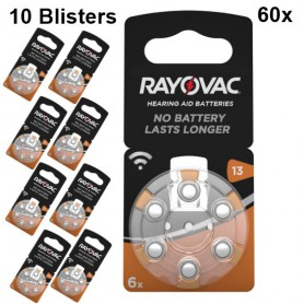 Rayovac - Rayovac Acoustic HA13 / 13 / PR48 / ZL2 310mAh 1.4V Hearing Aid Battery - Button cells - BS080-10x www.NedRo.us