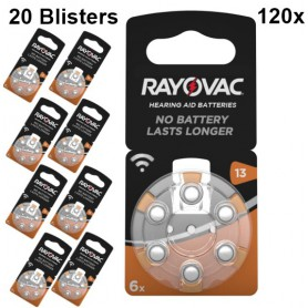 Rayovac - Rayovac Acoustic HA13 / 13 / PR48 / ZL2 310mAh 1.4V Hearing Aid Battery - Button cells - BS080-20x www.NedRo.us