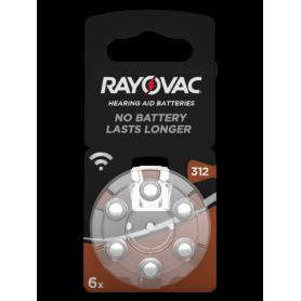 Rayovac - Rayovac Acoustic HA312 / 312 / PR41 / ZL3 180mAh 1.4V Baterie Aparat auditiv - Baterii plate - BS081-C www.NedRo.ro