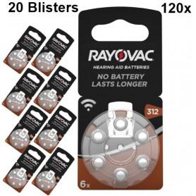 Rayovac - Rayovac Acoustic HA312 / 312 / PR41 / ZL3 180mAh 1.4V gehoorapparaat batterij - Knoopcellen - BS081-20x www.NedRo.nl