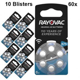 Rayovac - Rayovac Acoustic HA675 / 675 / PR44 / ZL1 640mAh 1.4V Hearing Aid Battery - Button cells - BS082-10x www.NedRo.us