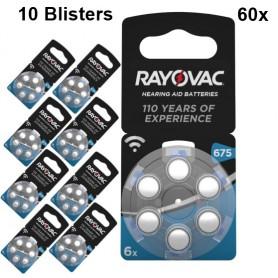 Rayovac - Rayovac akoestische HA675 / 675 / PR44 / ZL1 640 mAh 1.4V gehoorapparaat batterij - Knoopcellen - BS082-10x www.Ned...