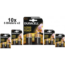 Duracell - Duracell LR14/C/Baby/R14/MN 1400/AM-2/E93 - Size C D 4.5V XL - BS095-CB