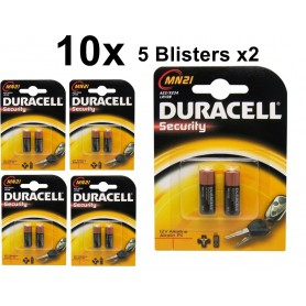Duracell - Duracell A23 23A MN21 K23A Security 12V alkaline batterij - Andere formaten - BS096-5x www.NedRo.nl