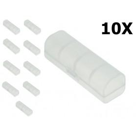 OTB, Cutie de transport PVC pentru bateriile 18650 - transparentă, Accesorii pentru baterii, ON5115-CB, EtronixCenter.com