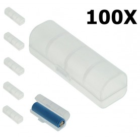OTB, PVC Transport Box for 18650 Batteries - Transparent, Battery accessories, ON5115-CB, EtronixCenter.com