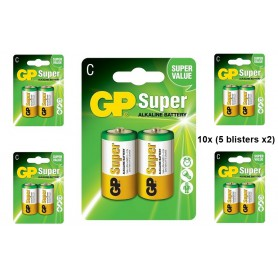 GP - GP LR14 R14 C-Cell Super Alkaline single use battery - Size C D 4.5V XL - BS100-C www.NedRo.us