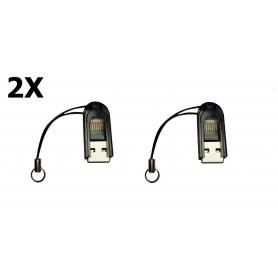 Dolphix - Micro SD MMC SDHC TF T-flash USB-geheugenkaartlezer / -schrijver - SD en USB Memory - YPU206-CB www.NedRo.nl