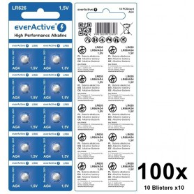 EverActive - everActive AG4 G4 LR626 LR66 BL166 1.5V Alkaline button cell battery - Button cells - BL166-CB