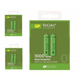 GP - GP R03/AAA GP ReCyko+ 1000 Series 950mAh oplaadbaar - AAA formaat - BS105-CB www.NedRo.nl