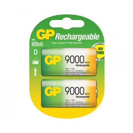 GP - GP 1.2V D / HR20 9000mAh NiMh rechargeable battery - Size C D and XL - BS106-CB www.NedRo.us