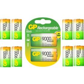 GP - GP 1.2V D / HR20 9000mAh NiMh oplaadbare batterij - C D en XL formaat - BS106-CB www.NedRo.nl