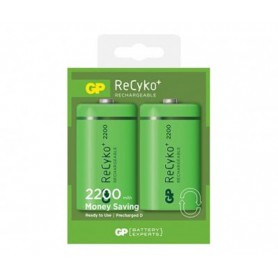 GP, GP Recyko+ 1.2V D / HR20 2200mAh NiMh rechargeable battery, Size C D and XL, BS107-CB