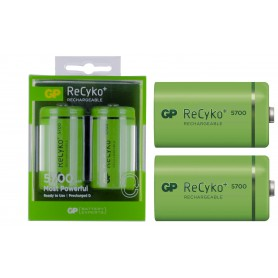 GP - GP Recyko+ 1.2V D / HR20 5700mAh NiMh oplaadbare batterij - C D en XL formaat - BS108-CB www.NedRo.nl