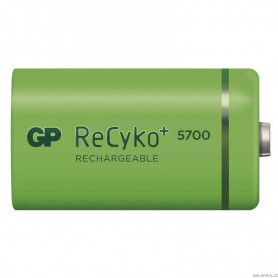 GP - GP Recyko+ 1.2V D / HR20 5700mAh NiMh rechargeable battery - Size C D and XL - BS108-CB