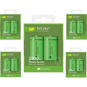 GP - GP 1.2V C/HR14 2200mah NiMh 2200 Series oplaadbare batterij - C D en XL formaat - BS114-CB www.NedRo.nl