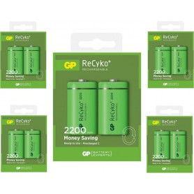GP - GP 1.2V C/HR14 2200mah NiMh 2200 Series rechargeable battery - Size C D and XL - BS114-CB www.NedRo.us