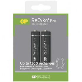 GP - Duo GP R6/AA ReCyko+ PRO 2000mAh 1.2V NiMH Oplaadbare Batterijen - AA formaat - BS123-3x www.NedRo.nl