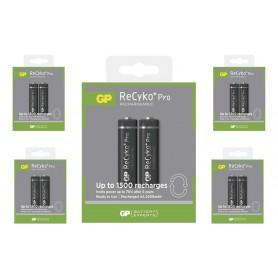 GP - Duo GP R6/AA ReCyko+ PRO 2000mAh 1.2V NiMH Oplaadbare Batterijen - AA formaat - BS123-5x www.NedRo.nl