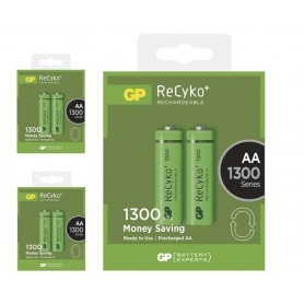 GP - Duo GP ReCyco+ AA / Mignon / HR6 / LR6 1300mAh Rechargeable Battery - 1300 Series - Size AA - BS124-CB www.NedRo.us