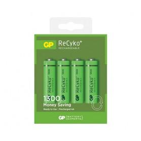 GP - GP ReCyco+ AA / Mignon / HR6 / LR6 1300mAh Oplaadbare Batterijen - 1300 Series - AA formaat - BS125-10x www.NedRo.nl