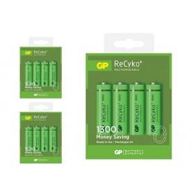 GP - GP ReCyco+ AA / Mignon / HR6 / LR6 1300mAh Oplaadbare Batterijen - 1300 Series - AA formaat - BS125-3x www.NedRo.nl