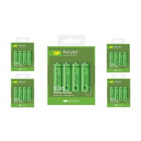GP - GP ReCyco+ AA / Mignon / HR6 / LR6 1300mAh Oplaadbare Batterijen - 1300 Series - AA formaat - BS125-5x www.NedRo.nl