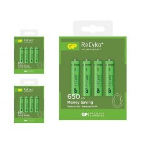 GP - GP R03/AAA GP ReCyko+ 650 Series 650mAh oplaadbaar - AAA formaat - BS127-CB www.NedRo.nl