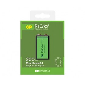 GP - GP 6F22/9V GP ReCyko+ 200 Series 200mAh Rechargeable - Other formats - BS129-CB www.NedRo.us
