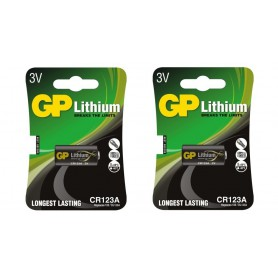GP - GP CR123 CR123A DL123A CR17345 Lithium batterij - Andere formaten - BS102-2x www.NedRo.nl