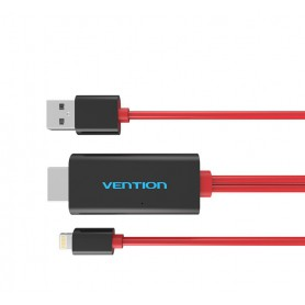 Vention, VENTION PREMIUM HDMI adapter voor iPhone 7 7 Plus 6s 6s Plus iPad, iPhone datakabels, V035, EtronixCenter.com