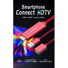 Vention - Cablu Adaptor Convertor USB la HDMI VENTION PREMIUM - Samsung cabluri de date  - V036-CB www.NedRo.ro