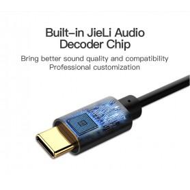 Vention - USB Type-C naar Female 3.5mm Audio Kabel Adapter - Audio kabels - V037-BL www.NedRo.nl