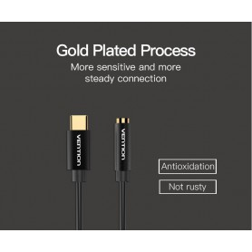 Vention - USB Type-C naar Female 3.5mm Audio Kabel Adapter - Audio kabels - V037-CB www.NedRo.nl