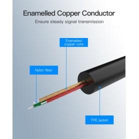 Vention - USB Type-C naar Female 3.5mm Audio Kabel Adapter - Audio kabels - V037-SI www.NedRo.nl