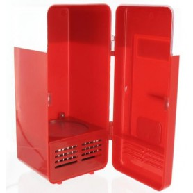NedRo, Mini frigider rosu si alb pentru birou cu alimentare USB, Gadget-uri computer, YPU801, EtronixCenter.com