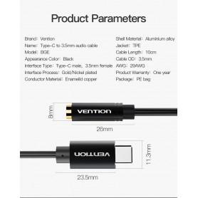Vention - Xiaomi Mi6 / Mi 6 Adaptor Cablu USB Tip C la Female 3.5mm Audio Jack - Cabluri audio - V039 www.NedRo.ro