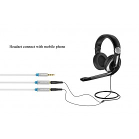 Vention, Adaptor audio 3.5mm Mic + Headphone Male la 2x Female, Adaptoare audio, V041-CB, EtronixCenter.com