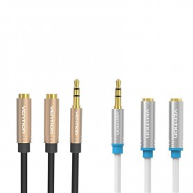 Vention, Dual 3.5mm feminin la audio Jack 3.5mm mascul Y Splitter, Adaptoare audio, V040-CB, EtronixCenter.com