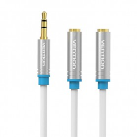 Vention, Dual 3.5mm Female naar Male Audio Jack 3.5mm Y Splitter, Audio adapters, V040-CB, EtronixCenter.com