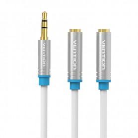 Vention - Dual 3.5mm Female naar Male Audio Jack 3.5mm Y Splitter - Audio adapters - V040-30W www.NedRo.nl