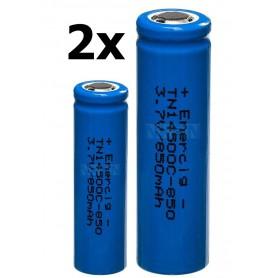 Enercig, Enercig 14500 2.4A 850mAh Oplaadbare batterij Unprotected, Andere formaten, NK370-CB, EtronixCenter.com