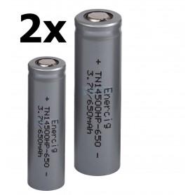 Enercig - Oplaadbare batterij Enercig 14500- 13A 650mAh Unprotected - Andere formaten - NK371-2x www.NedRo.nl