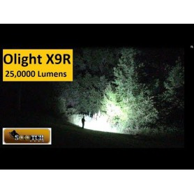 OLIGHT - Olight X9R Marauder 6x CREE XHP70.2 LEDs 25000 Lumens Rechargeable Search Light with 6000mAh 14.4V Li-Ion Battery Pa...