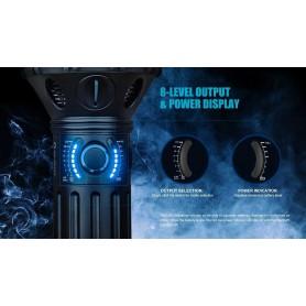 OLIGHT - Olight X9R Marauder 6x CREE XHP70.2 LEDs 25000 Lumen Oplaadbaar Zaklamp met 6000mAh 14.4V Li-ion batterijpakket - Za...