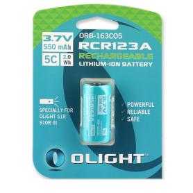 OLIGHT - Olight RCR123A Accu voor S1R / H1R S10RIII in blister 550mAh - Andere formaten - NK374-CB www.NedRo.nl