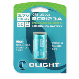 OLIGHT - Rechargeable battery Olight RCR123A special for H1R and S10RIII 550mAh 3.7V - Other formats - NK374-CB www.NedRo.us