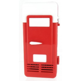 NedRo - Draagbaar USB Mini Koelkast Voor 1 Blikje Rood - Computer gadgets - YPU801 www.NedRo.nl
