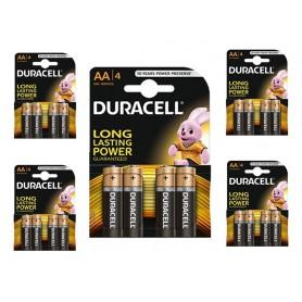 Duracell - Duracell Basic LR6 / AA / R6 / MN 1500 1.5V Alkaline batterij - AA formaat - BL059-5x www.NedRo.nl